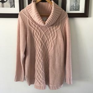 Avenue Chunky Sweater Blush Dusty Rose